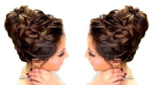 epic braid bun updo hairstyle how to video dailymotion
