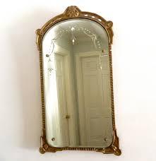 vintage etched mirror beveled gesso wood frame vintage mirrors