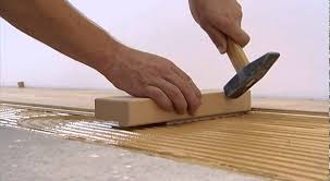 spread gluing of tilo parquet floors