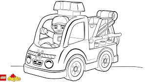 lego duplo tow truck coloring coloring lego duplo