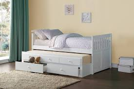 White Twin Bed Homelegance Galen Twin Bed With Trundle And Two Storage Drawers