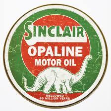 sinclair opaline motor oil tin metal signs gasoline gas dinosaur