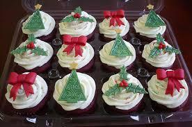 velvet christmas embossed velvet christmas cupcakes