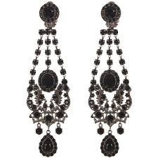 black chandelier earrings 25 black earrings ideas on black stud earrings