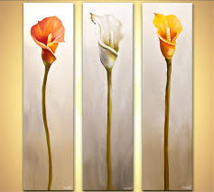 prints painting calla lily flowes home decor floral art 7752