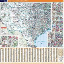 Wall Map Of The United States by Rand Mcnally Proseries Regional Wall Map Texas U0026 The South