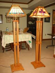 mission style floor lamps by ampeater lumberjocks com