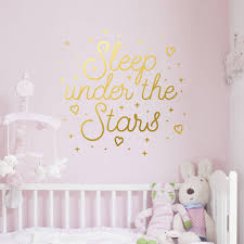 quotes wall stickers childrens sleep under the stars quote wall decal sticker home accessories