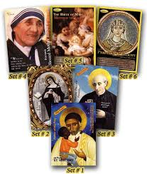 holy traders all 6 sets trading cards seton educational