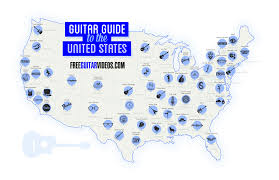 Map Picture Of United States by Guitar Guide To The United States Map Guitar Treats