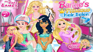 barbie u0027s princess hair salon game barbie games to play now online