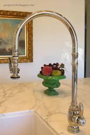 Brass Faucet Kitchen Enjoyable Antique Brass Kitchen Faucet With Sprayer Tags Antique