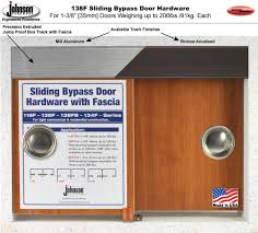 Sliding Bypass Barn Door Hardware by Johnson Hardware 138f Sliding Bypass Door Hardware