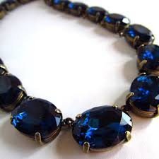blue crystal statement necklace images Best collet necklace on anna wintour products on wanelo jpg