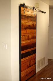 How To Make A Sliding Interior Barn Door Diy Wooden Pallet Door Ideas Pallet Door Pallet Furniture