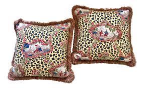 brunschwig u0026 fils chinese leopard toile pillows a pair chairish
