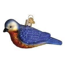 western bluebird ornament callisters