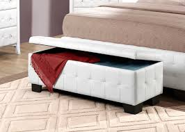 White Bench With Storage Furniture White Tufted End Of Bed Ottoman Storage Bench
