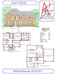 2 story floor plans house plan 2093 201 traditional stone brick front elevation