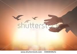 devotion thanksgiving concept silhouette human open stock photo