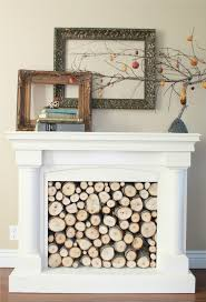 Artificial Logs For Fireplace by Repurposed Faux Fireplace Mantel Fire Places Firewood And Mantels