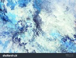 icy clouds blue artistic splashes abstract stock illustration