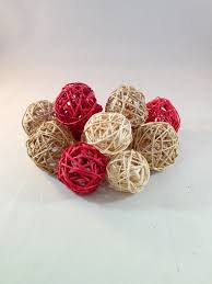 decorative spheres orbs and rattan