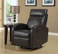 Swivel Recliner Chairs For Living Room Leather Rocker Swivel Recliner Chair For Home Furniture Ideas