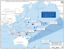 Map Of Pacific Islands Map Of Wwii American Carriers In The Pacific 1941 42