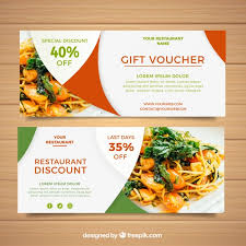 discounted restaurant gift cards coupon vectors photos and psd files free