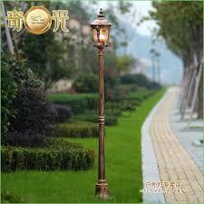 solar led l post lights lighting aluminum glass classical