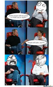 Bill Gates And Steve Jobs Meme - bill gates and steve jobs by marost meme center