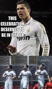 Celebration Meme - ronaldo s celebration is in fifa 14 onerx in sports fitness