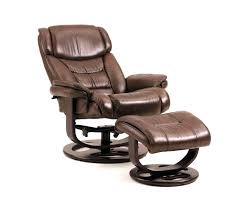 reclining leather chair ottoman fice morris recliner chair and