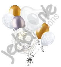 wedding wishes honeymoon 7 pc wedding wishes balloon bouquet bridal shower just married