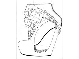 shoe drawing ideas my research amp design journey stage 5 develop