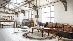 Area Rugs With Brown Leather Furniture Bed Ideas Cool Simple Wall Design Industrial Utilitarian Living