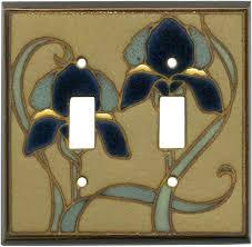 Ceramic Switch Plates Decorative Mosaic Iris Ceramic Light Switch