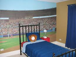 attractive baseball wallpaper murals for boys room homedees baseball stadium wall mural kit
