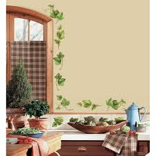 evergreen wall stickers 38 kitchen decals leaves vines country