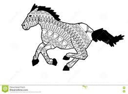 mandala horse icon stock photo image 73751176