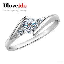 day rings uloveido women rings bijouterie silver wedding ring