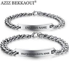 name bracelets customized bracelet stainless steel women men id name