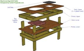 xl big green egg table plans pdf photo big green egg table nest images housewarmings outdoor