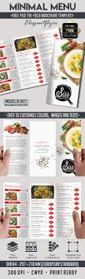 menu flyer template minimal menu free psd tri fold psd brochure template by