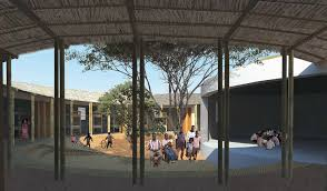 home courtyard gallery of an eco for orphaned children