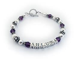 mothers day birthstone bracelet february swarovski bracelet or s day s day