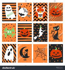 halloween background patterns halloween set stock vector 489122257 shutterstock