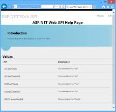 templates for asp net web pages creating help pages for asp net web api microsoft docs