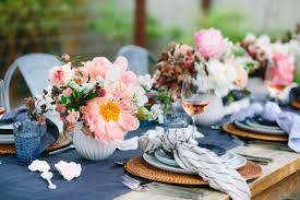 entertain a spring tablescape in navy u0026 blush damask u0026 dentelle